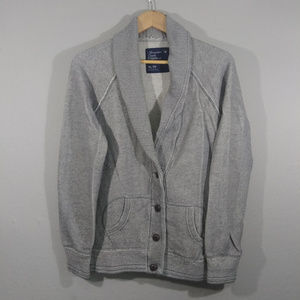 AEO Cozy Sweatshirt Button Blazer Jacket